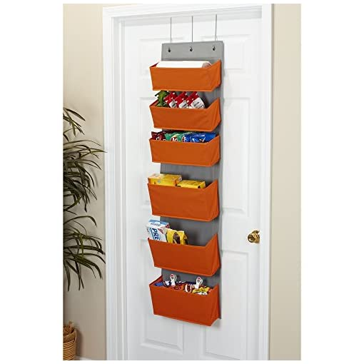Cabinet Door Organizers Household Essentials 2168-1 Over-the- Over-the-Door Organizer, Orange cabinet door organizers