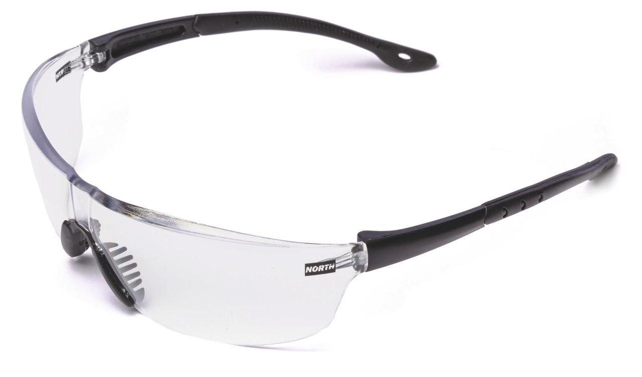 Honeywell 908730 Tactile T2400 Gafas de seguridad táctiles -EN 166 1F CE - Marco negro con lente antirrayas transparente