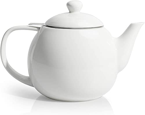 Sweese 221.101 Porcelain Teapot with Stainless Steel Infuser