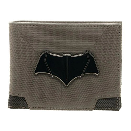 Official Batman v Superman Dawn of Justice Suit Up Bi-Fold Metal Logo Wallet -