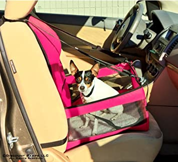 DOG CAR BOOSTER SEAT FOR SMALL AND MEDIUM SIZE DOGS PINK NEW ARRIVAL