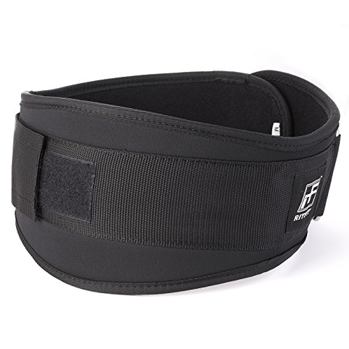 RitFit Weight Lifting Belt Great for Squats, Crossfit, Lunges, Deadlift, Thrusters Men and Women 6 Inch Black/Pink Firm & Comfortable Lumbar Support with Back Injury Protection
