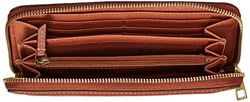Fossil Emma Large Zip Wallet Rfid, Brown Leather