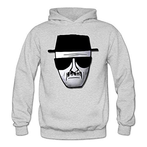 [XJBD Women's Breaking Bad Heisenberg Logo Fashion Hooded Sweatshirt Ash Size S] (Bad Habit Costumes)