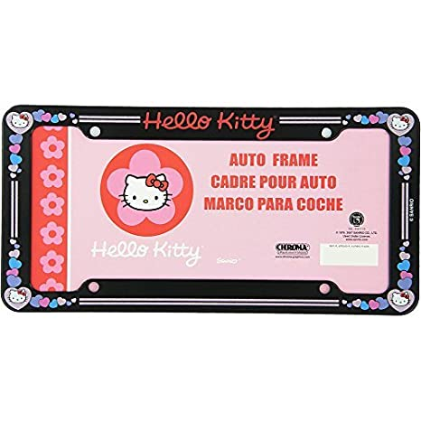 Hello Kitty Head Face with Red Bow and Pink Heart Sanrio Glitter Auto Car Truck SUV
