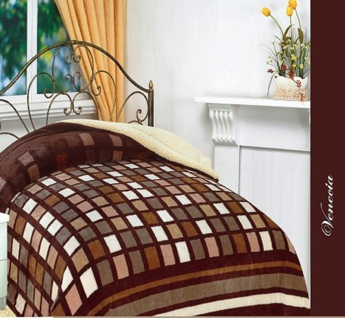 Sumptuously Brown Microfiber Reversible Blankets