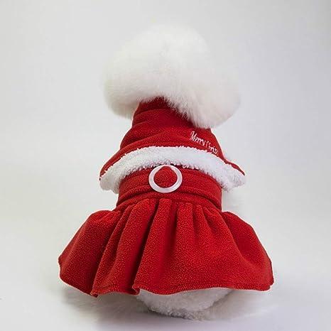 TYJY Ropa De Navidad para Perros Calientes Ropa De Boda Y Abrigo Ropa para Mascotas Ropa