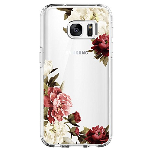 Mobile Construction Case (Flyeri Samsung Galaxy S6 Case,Flower Clear Soft TPU Phone Case for Galaxy S6(11))