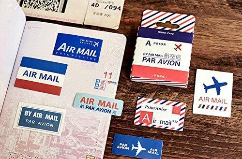 Pegatina De Correo Correo A/éreo Bolso De Mano Pegatina Decorativa Etiqueta General Sello Pegatina Caja Maleta 90pcs