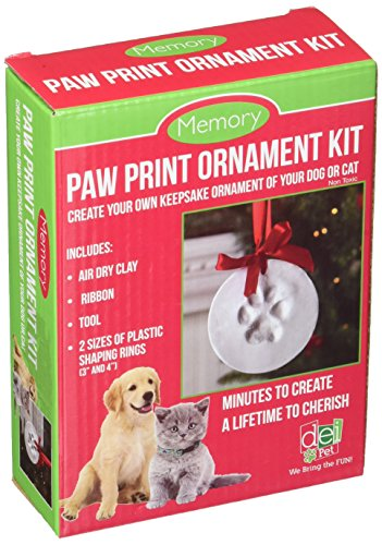 - Santa's Lucky Dog Memory Paw Print Ornament Kit