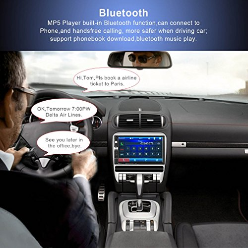 Catuo Bluetooth Car Touch Screen Stereo Audio Video Receiver Player,  7 Inch 1080P Car Media MP5 Player with Rear View Camera Supported, FM Radio/USB/TF/AUX-in/Hands-free Call by CATUO (Image #3)