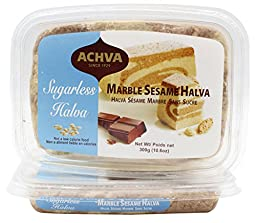 Achva Marble Sesame Sugarless Halva, 300 grams,Pack of 2