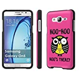 Galaxy [On5] Phone Case [SlickCandy] [Black] Hard Protector Snap Designer Shell Case - [Hoo is There Owl] for Samsung Galaxy [O5] [On5]