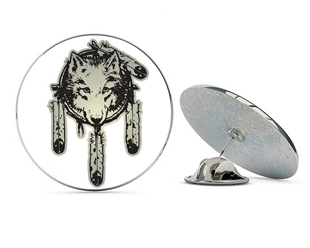 NYC Jewelers Wolf Native American Dream Catcher Metal 0.75 Lapel Hat Pin Tie Tack Pinback