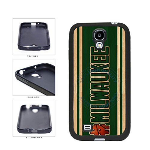 BleuReign(TM) Basketball Team Hashtag Milwaukee #Milwaukee TPU RUBBER SILICONE Phone Case Back Cover For Samsung Galaxy S4 I9500 (Brewers Samsung Galaxy S4 Case)