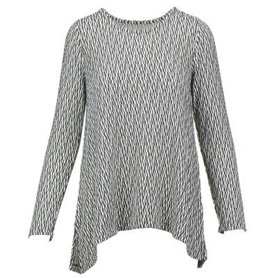 Chelsea & Theodore Womens Lightweight Textured Knit Tunic (Small, (The Chelsea Knit Top)