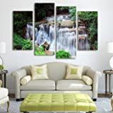 Cascade Sheet - Cascade Waterfall Wood Scene Painting Decorative Wall Picture Home Decoration - Tent Poll - 1PCs