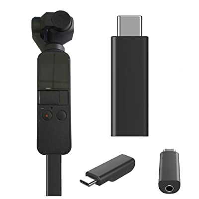 Zarupeng OSMO Pocket USB-C a 3.5mm Mic Micrófono Adaptador para dji OSMO Pocket Part (Negro): Juguetes y juegos