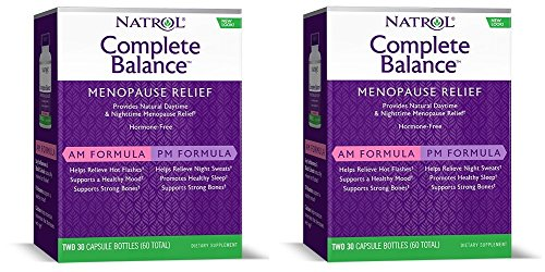Natrol Complete Balance A.M./P.M. Formula for Menopause, Two, 30 Capsule Bottles (Pack of -