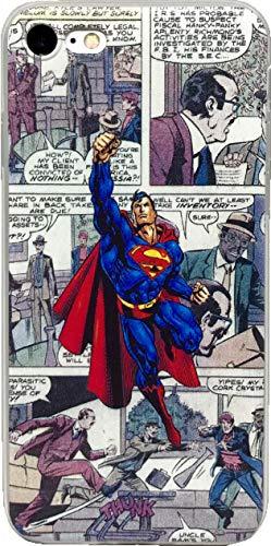 ECHC TPU Flexible Comic Book Superhero Case for iPhone (Superman, 7 and -