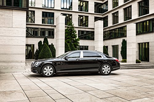 Mercedes-Benz Maybach S 600 Guard (2016) Car Print on 10 Mil Archival Satin Paper Black Side Static View - Maybach Guard