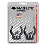 Maglite Black Universal Mounting Brackets for D-Cell Flashlight, 2 pk