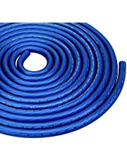 25ft Feet 1/0 GA Gauge AWG Power Cable Wire Tinned OFC Copper Ground Frost Blue