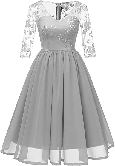 Robe Cocktail Mariage,Frenchenal Femme Ré