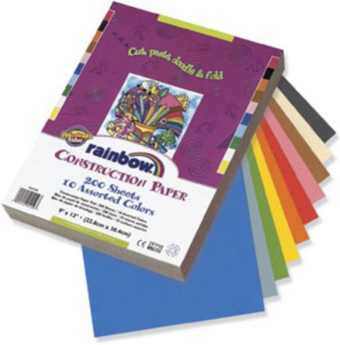 Pacon Corporation 94460 Construction Paper, 12-Inch x 18-Inch, 100/PK, Assorted from PACON