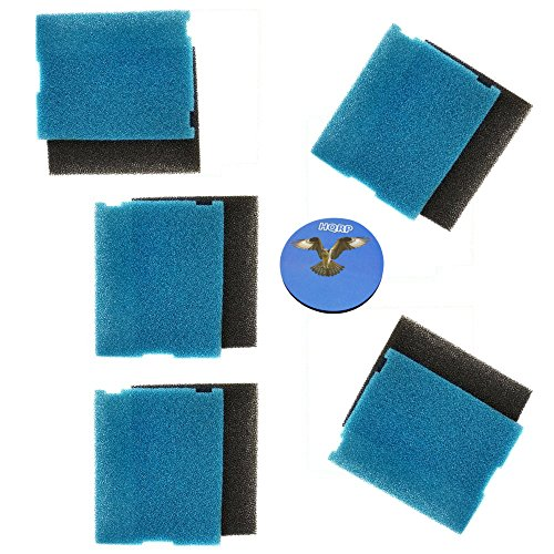 HQRP 5-Pack Flat Box Filter Pads for Tetra 19015, SF1 / 26592, Coarse & Fine Pads Coaster