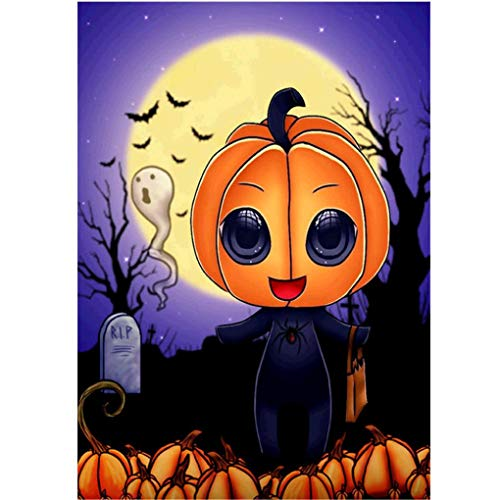 Pumpkin Head Diamond Painting - Pausseo Halloween 5D DIY Drilling Drawing Accessories Diamond Cross Stitch Kits Embroidery Picture Rhinestone Pasted Home Decoratuion Adults Kids - -