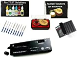 PuriTEST Complete Jeweler's Hand Tool Kit - Acid Solutions, Test Stones, Diamond Tester, Scale Magnification Loupe, and Files