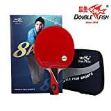 Double Fish Aryl Carbon 8 Star Table Tennis Racket, Ping Pong Paddle (D-8A)