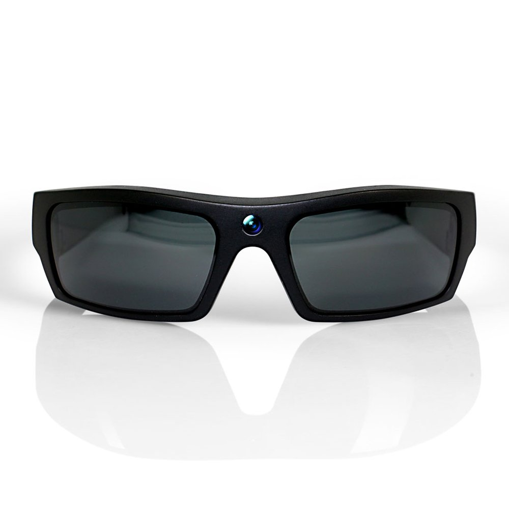 GoVision SOL 1080p HD Camera Glasses Video Recording Sport Sunglasses with Bluetooth Speakers and 15mp Camera - Black by GoVision