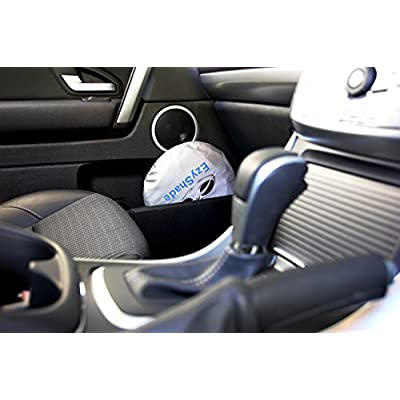 EzyShade Windshield Sun Shade + Extra Item. See Size-Chart with Your Vehicle (Easy-Read). Foldable 2-Piece Car Sunshades Reflect and Protect Your Vehicle from UV Sun and Heat. Standard (Medium) Size: Automotive