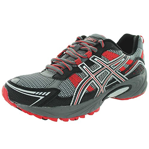 ASICS Men's GEL-Venture 4 Running Shoe,Charcoal/Black/Red,7 M US