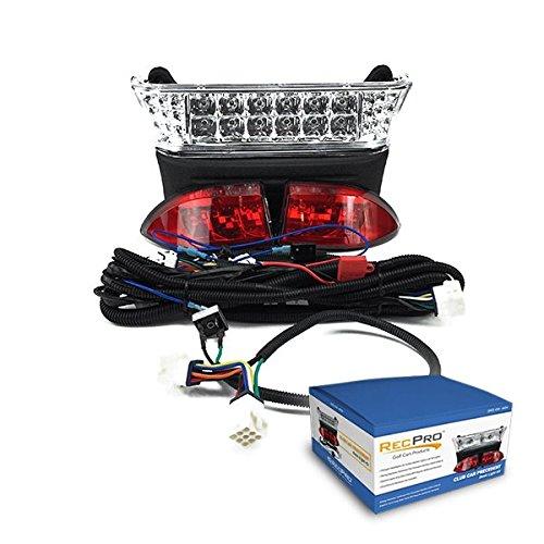 NEW RecPro CLUB CAR PRECEDENT 2004-2008 GAS GOLF CART LIGHT KIT ALL LED LIGHT KIT WITH LED HEAD LIGHTS & LED TAIL LIGHTS