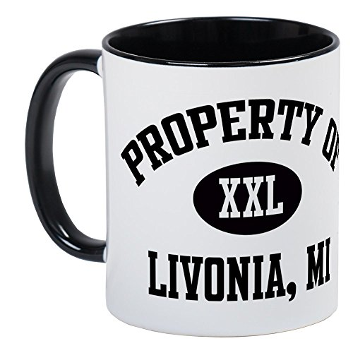 (CafePress Property Of Livonia Mug Unique Coffee Mug, Coffee Cup)