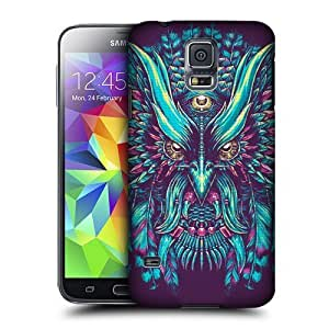 Hanifa Dirar Hadad's Shop Christmas Gifts Head Case Designs Blue and Pink Ethnic Owls Protective Snap-on Hard Back Case Cover for Samsung Galaxy S5 2256213M73018232