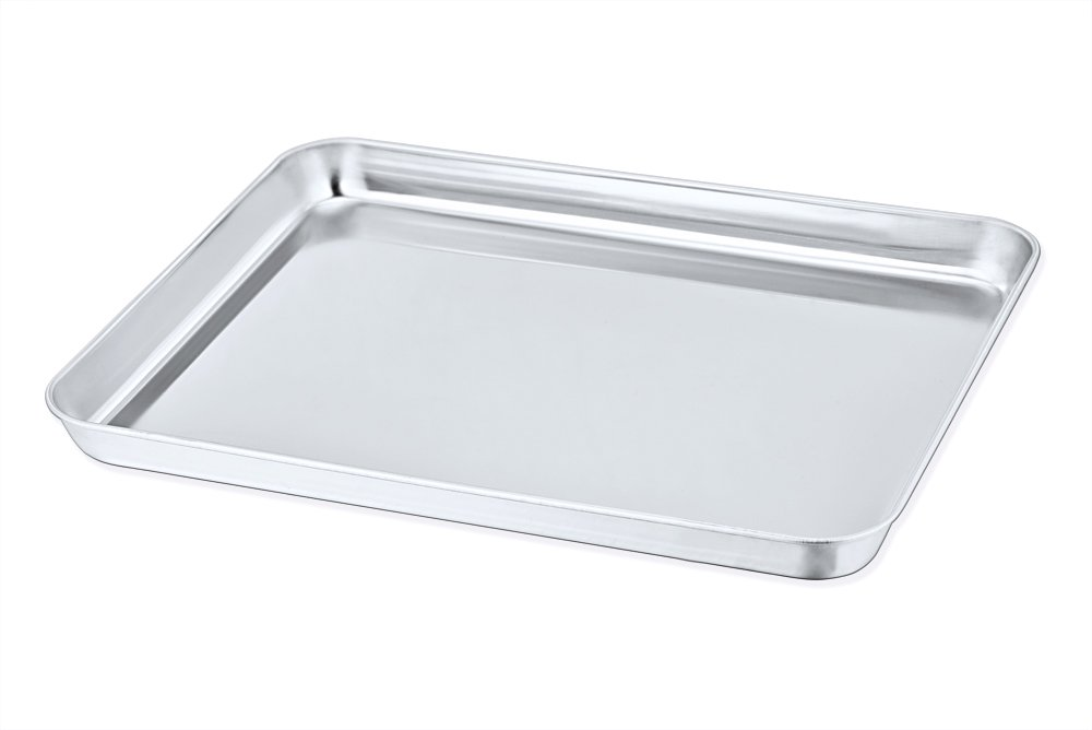 Toaster Oven Pan, P&P Chef Stainless Steel Toaster Oven Tray Bakeware, Rectangle 12.5'' x 10'' x 1'', Non Toxic & Healthy, Rust Free & Dishwasher Safe, Mirror Finish & Easy Clean by P&P Chef