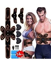 Elettrostimolatore per Addominali,Stimolatore Elettrostimolatore Muscolare ABS EMS Addome/Braccio/Gambe con Ricaricabile per uomini Donne Addome / braccio / Allenamento gambe