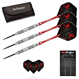 Red Dragon Dragonfly 2nd Generation 9: 28g- 95% Tungsten Steel Darts with Flights, Shafts, Wallet & Red Dragon Checkout Card