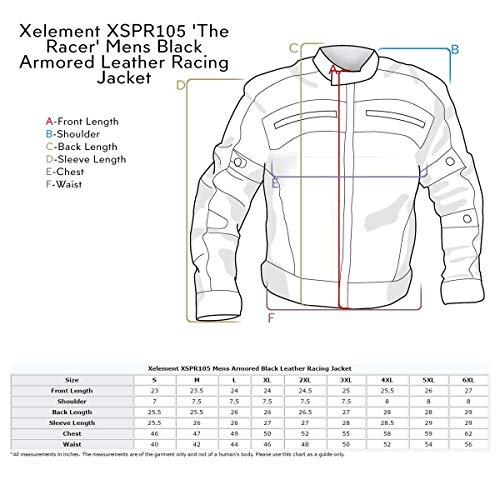 Amazon.com: Xelement XSPR105 The Racer - Chaqueta de ...