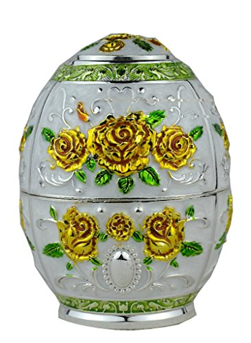 (Quality Fashion Classic Handmade Auto Antomatic Toothpick Holder Royal Russian Style (Gold Yellow Rose Flower))