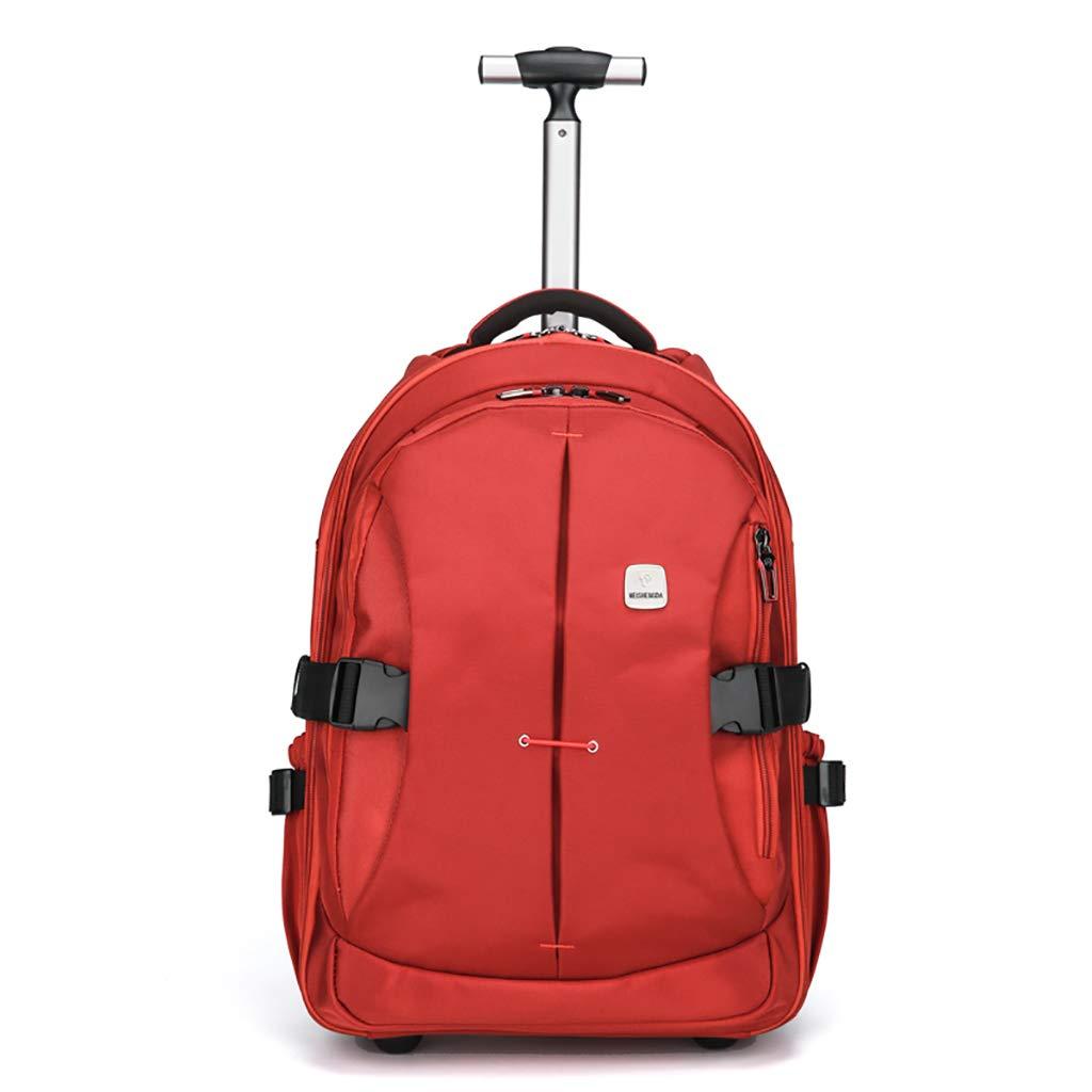 学校のラップトップバッグを旅する少年のためのトロリーバックパック大容量ストレージウィールドローリングバックパック防水旅の荷物 big  B07NMX65CM