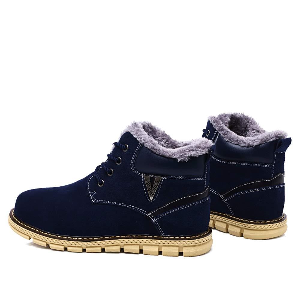 YAJIE-Stiefel, YAJIE-Stiefel, YAJIE-Stiefel, Modische Schneestiefel der Männer, beiläufige einfache Lace-up-Winter-Faux-Fleece nach Hause Hauptschuhe (Farbe   Blau, Größe   42 EU) fb8c2e
