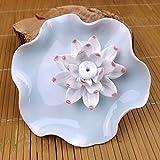 Jingdezhen Ceramic Crafts White Lotus Incense Plug Home Decoration