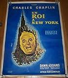 PRICE CUT LINEN BACKED KING IN NEW YORK '57 47X63 CHAPLIN'S LAST LEADING ROLE