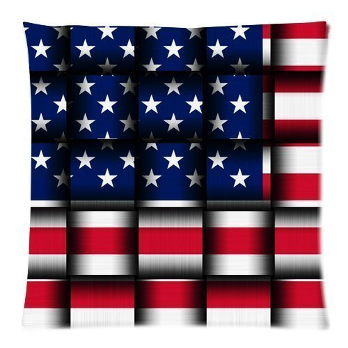 1ZMountletstore bandera americana cuadrado cojín decorativo ...