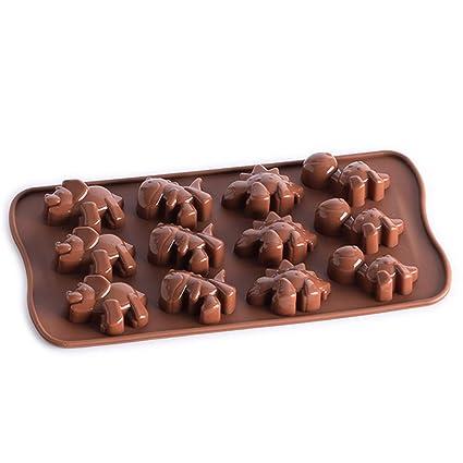 Moldes XL Hornear Pan, Silicona para pastelería, pequeños pastelería, Dulces de Dinosaurio,